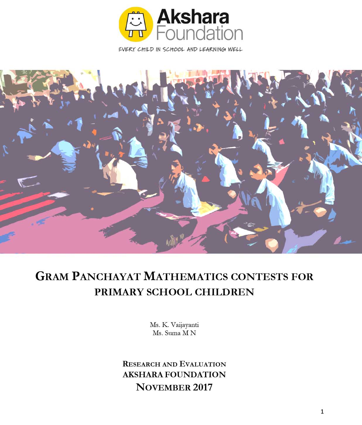Gram Panchayat Mathematics Contests for Primary School Children, 2017