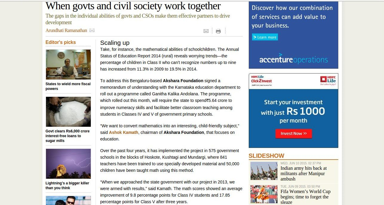 When Governments and Civil Society Work Together